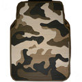 Personalised Camo Universal Auto Carpet Waterproof Car Floor Mats Rubber 5pcs Sets - Green