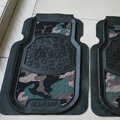 Personalised Camo Universal Large Carpet Waterproof Car Floor Mats Rubber 2pcs Sets - Green