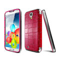 IMAK Mirror Touch Screen leather Cases Cover Skin for Samsung Galaxy Note 4 N9100 - Red