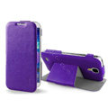 IMAK RON Series leather Case Support Holster Cover for Samsung Galaxy Note 4 N9100 - Purple
