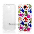IMAK Relievo Painting Case Palms Battery Cover for Samsung Galaxy Note 4 N9100 - Multicolour
