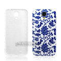 IMAK Relievo Painting Case blue and white porcelain Battery Cover for Samsung Galaxy Note 4 N9100 - Blue