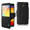 IMAK crystal lines Flip leather Case Support Holster Cover for Samsung Galaxy Note 4 N9100 - Black