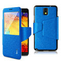 IMAK crystal lines Flip leather Case Support Holster Cover for Samsung Galaxy Note 4 N9100 - Blue