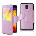 IMAK crystal lines Flip leather Case Support Holster Cover for Samsung Galaxy Note 4 N9100 - Purple
