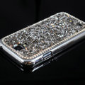 Luxury Bling Case Protective Shell Cover for Samsung Galaxy Note 4 N9100 - Silver
