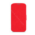Nillkin Fresh leather Case button Holster Cover Skin for Samsung Galaxy Note 4 N9100 - Red