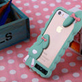 Cool Detonation Teeth Rabbit Covers Silicone Shell for iPhone 6 Plus 5.5 - Green