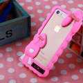 Cool Detonation Teeth Rabbit Covers Silicone Shell for iPhone 6 Plus 5.5 - Rose