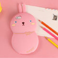 Cute TPU Princess Rabbit Covers Silicone Shell for iPhone 6 Plus 5.5 - Pink