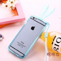 Cute Transparent Rabbit Covers Ears Silicone Cases for iPhone 6 Plus 5.5 - Blue