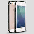 Quality Bling Aluminum Bumper Frame Cover Diamond Shell for iPhone 6 Plus 5.5 - Black