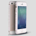 Quality Bling Aluminum Bumper Frame Cover Diamond Shell for iPhone 6 Plus 5.5 - Silver