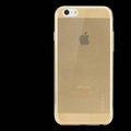 Rock Transparent TPU Covers Invisible Silicone Cases for iPhone 6 Plus 5.5 - Gold