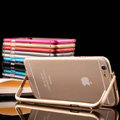 Unique Aluminum Bracket Bumper Frame Case Support Cover for iPhone 6 Plus 5.5 - Black