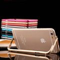 Unique Aluminum Bracket Bumper Frame Case Support Cover for iPhone 6 Plus 5.5 - Blue