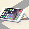 Unique Aluminum Bracket Bumper Frame Case Support Cover for iPhone 6 Plus 5.5 - Grey