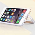Unique Aluminum Bracket Bumper Frame Case Support Cover for iPhone 6 Plus 5.5 - Silver