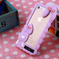 Cool Detonation Teeth Rabbit Covers Silicone Shell for iPhone 6S - Pink