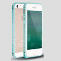 Quality Bling Aluminum Bumper Frame Cover Diamond Shell for iPhone 6S - Blue