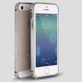 Quality Bling Aluminum Bumper Frame Cover Diamond Shell for iPhone 6S - Grey