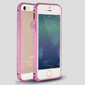 Quality Bling Aluminum Bumper Frame Cover Diamond Shell for iPhone 6S - Purple