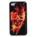 Skull Hard Back Cases Covers Skin for iPhone 6S - Black EB006