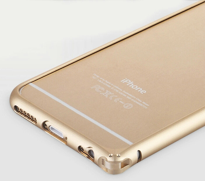 NAME High Quality Aviation Aluminum Bumper Frame Case Cover for iPhone 7 -  Gold c3c16be631