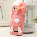 Personalized Detonation Teeth Rabbit Covers Silicone Cases for iPhone 7 - Orange