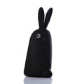 TPU Three-dimensional Rabbit Covers Silicone Shell for iPhone 7 - Black