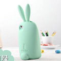 TPU Three-dimensional Rabbit Covers Silicone Shell for iPhone 7 - Green