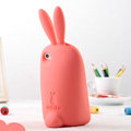 TPU Three-dimensional Rabbit Covers Silicone Shell for iPhone 7 - Watermelon