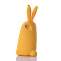 TPU Three-dimensional Rabbit Covers Silicone Shell for iPhone 7 - Yellow