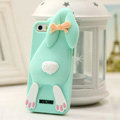 Personalized Detonation Teeth Rabbit Covers Silicone Cases for iPhone 6 4.7 - Green
