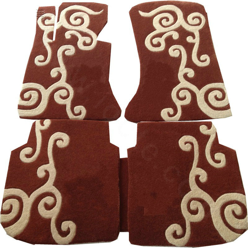 Buy wholesale custom cloud winter genuine sheepskin fitted for Mercedes benz winter floor mats