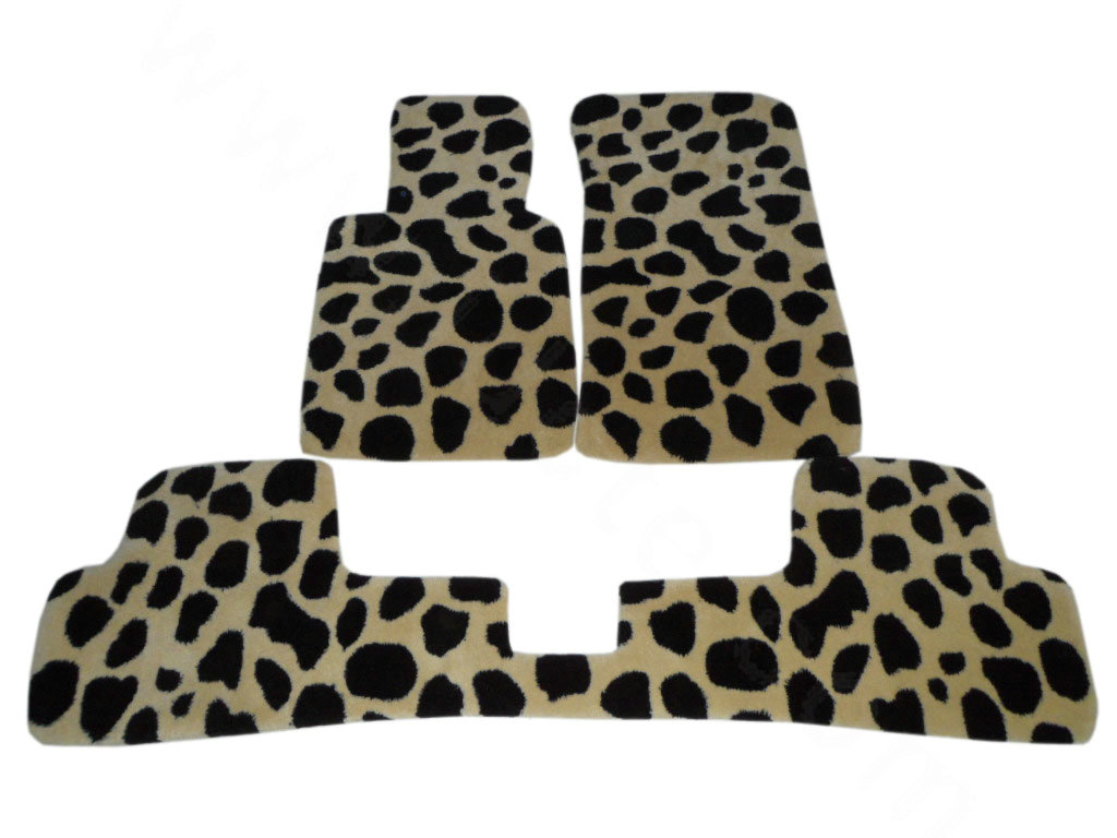buy wholesale funky leopard print velvet tailored custom auto carpet car floor mats 5pcs sets. Black Bedroom Furniture Sets. Home Design Ideas