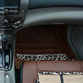 Best Leopard Print PVC Tailor Made Vehicle Carpet Car Floor Mats 5pcs Sets For Volvo XC90 - Brown