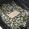 Classic Camouflage Print PVC Custom Vehicle Carpet Car Floor Mats 5pcs Sets For Volvo XC90 - Green