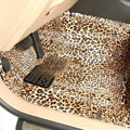 Classic Leopard Print PVC Tailored Custom Auto Carpet Car Floor Mats 5pcs Sets For Volvo XC90 - Brown