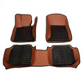 Personalized PU Leather Tailored Auto Carpet Protector Car Floor Mats 5pcs Sets For Volvo XC90 - Brown