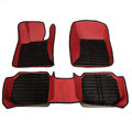 Personalized PU Leather Tailored Auto Carpet Protector Car Floor Mats 5pcs Sets For Volvo XC90 - Red