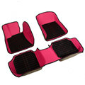 Personalized PU Leather Tailored Auto Carpet Protector Car Floor Mats 5pcs Sets For Volvo XC90 - Rose