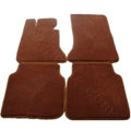 Quality Tailored Winter Genuine Sheepskin Auto Fitted Carpet Car Floor Mats 5pcs Sets For Volvo XC90 - Brown