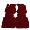 Quality Tailored Winter Genuine Sheepskin Auto Fitted Carpet Car Floor Mats 5pcs Sets For Volvo XC90 - Red