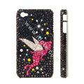 Bling S-warovski crystal cases Angel diamond covers for iPhone 6S Plus - Black