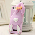 Personalized Detonation Teeth Rabbit Covers Silicone Cases for iPhone 6S Plus 5.5 - Pink