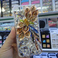 S-warovski crystal cases Bling Flower diamond covers for iPhone 6S Plus - Champagne