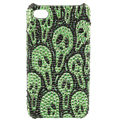 Skull diamond Crystal Cases Luxury Bling Hard Covers Skin for iPhone 7 Plus - Green