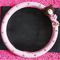 Bowknot Bear Diamond Genuine Leather Car Steering Wheel Covers 15 inch 38CM - Pink