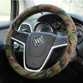 Calssic Man Camo Flax Car Steering Wheel Covers 15 inch 38CM Four Seasons General - Green